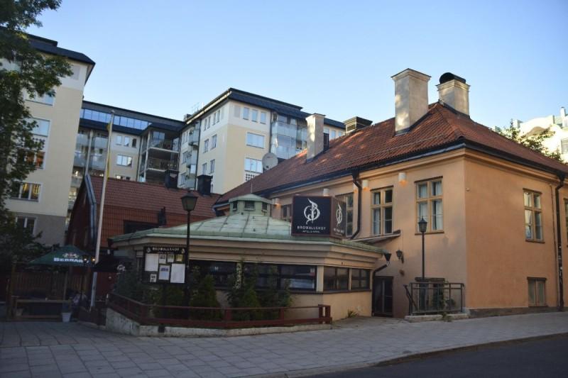 Das Hotel Browallshof Hotell Stockholm von außen