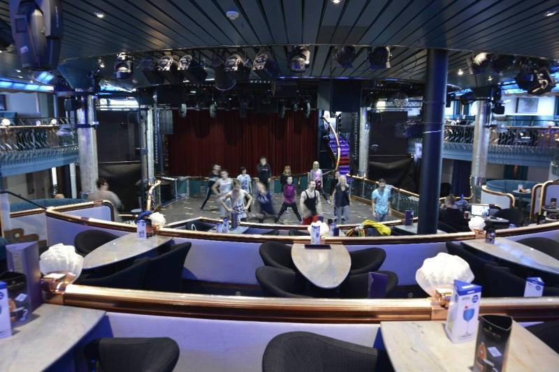 """Proben zur Show """"Todes"""" im Atlantis Palace auf Deck 7 der M/S Silja Symphony"""