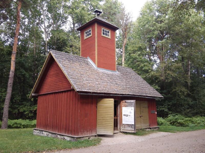 Spritzenhäuschen aus Nordestland, erbaut von freiwilligen Feierwehrvereinen zu Beginn des 20. Jahrhunderts