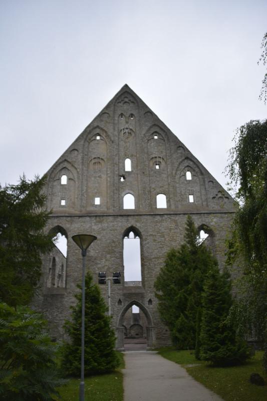 Impossant, oder? Spitzer Bauteil der Ruine des Kloster Pirita