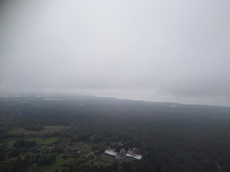 Der Ausblick bei schlechten Wetter vom Teletorn Tallinn