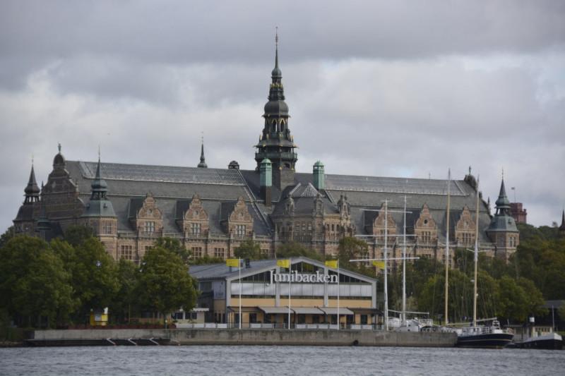 Vorbei auf dem Wasser am Nordischen Museum