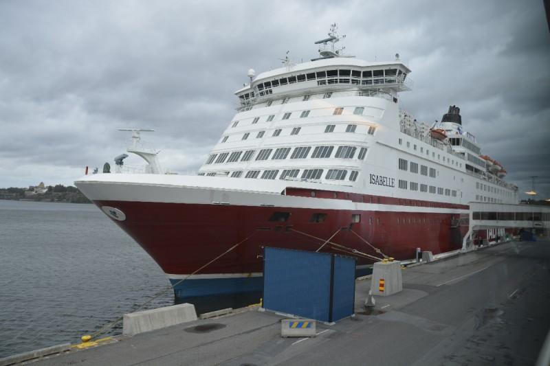 Die M/S Isabelle im Hafen Stockholm/Frihamnen