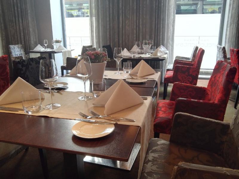 Eingedeckt im Restaurant des Tallink Hotel Riga