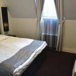 Das Bett im Zimmer 615 im Tallink Hotel Riga