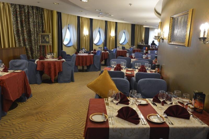 Das Gourmet Restaurant an Bord der M/S Romantika