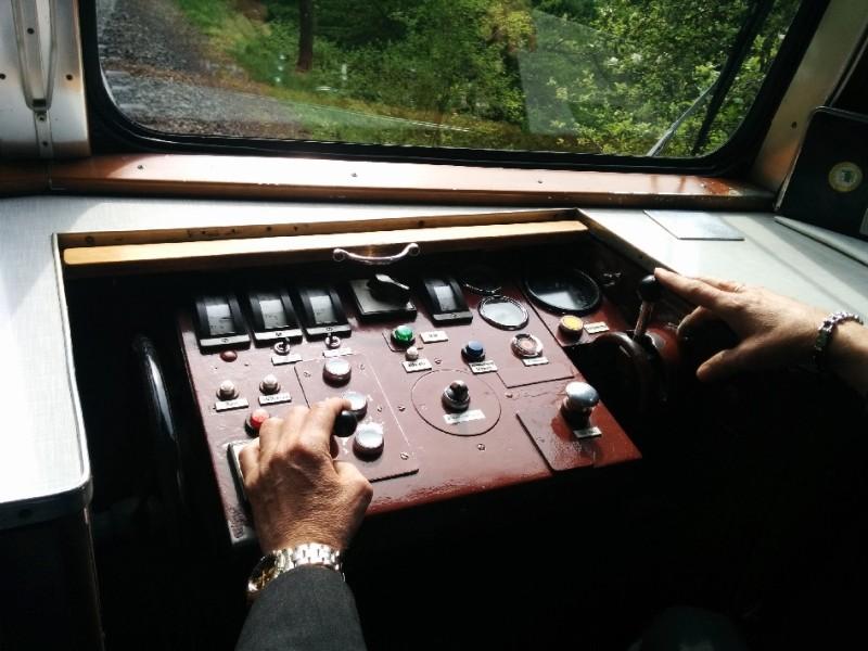 Kontrollpult in der Drachenfelsbahn Königswinter