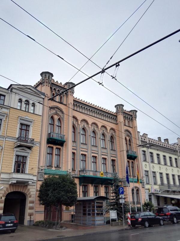 Das Gebäude beherbergt die Deutsche Botschaft in Riga