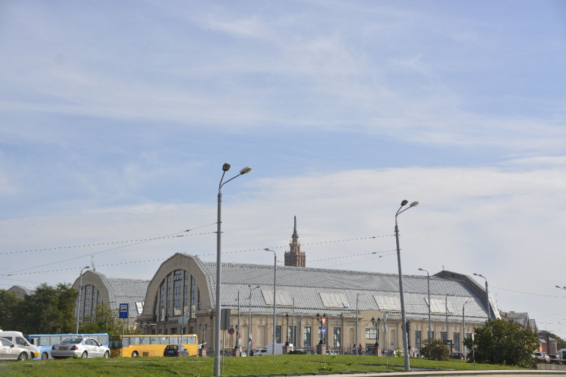 Blick auf den Zentralmarkt Riga