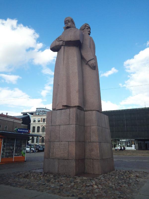 Denkmal der lettischen Schützen in Riga