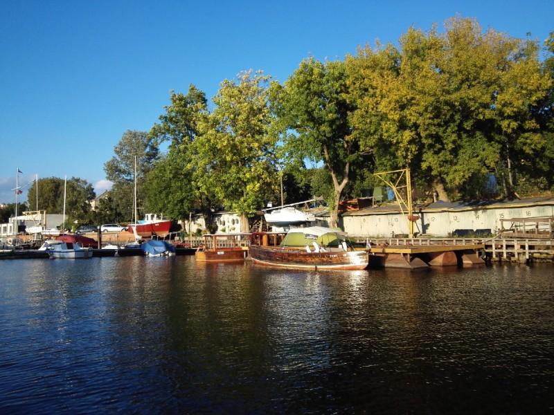 Das war wohl der alte Hafen in Riga