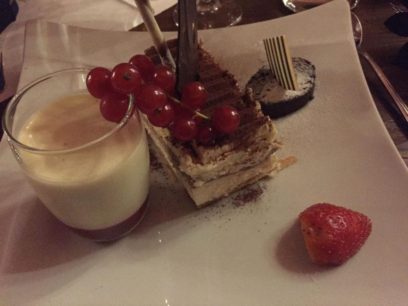 Dessert im Hotel beim Walk & Dine
