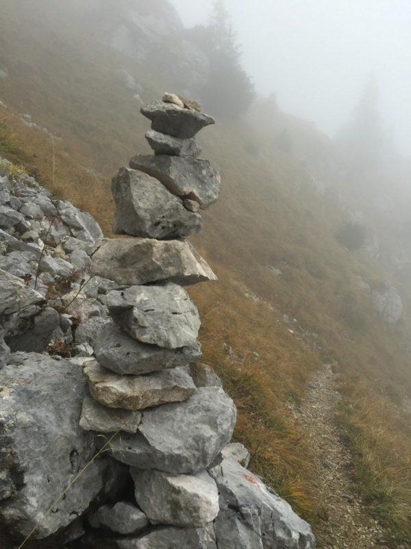 Steinmadl weisen auch auf der Wandertrilogie Allgäu den Weg