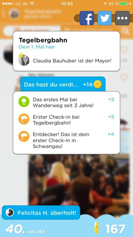 Screenshot von Swarm - Hallo Claudia ;)