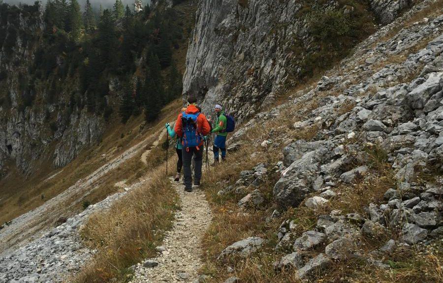 Ein Teil unserer gemsichten Blogger- und Journalisten Wandergruppe auf der Wandertrilogie Allgäu