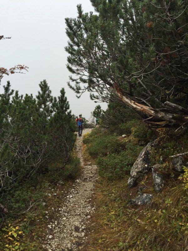 Auch mal eben kann der Weg zwischen dem Tegelberghaus und der Kenzenhütte sein bei der Wandertrilogie Allgäu