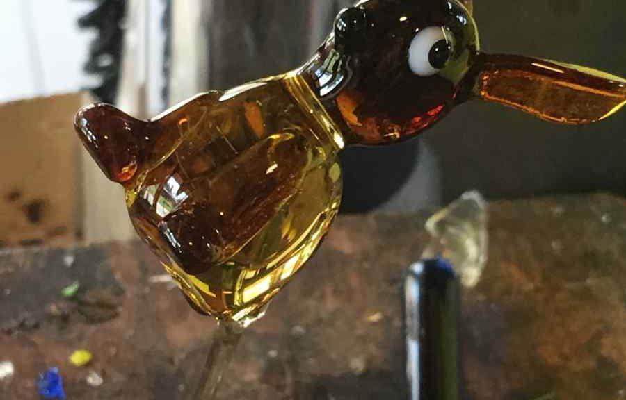 Frischer Glashase, gefertigt von Roland Ehrhardt aus Schmidefeld