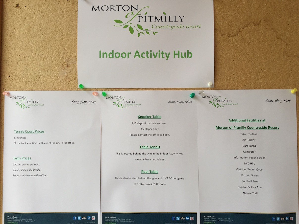 Preisliste für Aktivitäten im Morton of Pitmilly Farm House