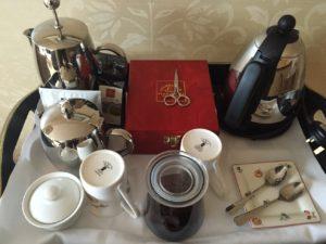 Kaffee und Tee im Hotel The Peat Inn