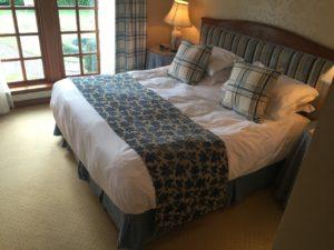 Ja, ich gebe zu, ich hab mich schon kurz drauf gelegt gehabt auf das Bett im Hotel The Peat Inn