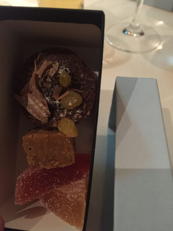 Abschiedsgeschenk im The Peat Inn Restaurant