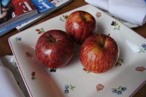 Frische Äpfel im The Peat Inn