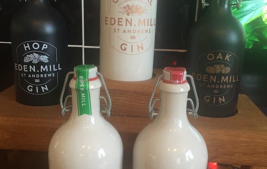 Die Gin Sorten bei Eden Mill im April 2016