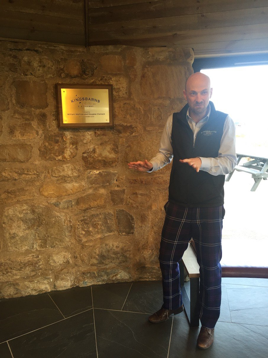 Douglas in Action at Kingsbarns Distillery