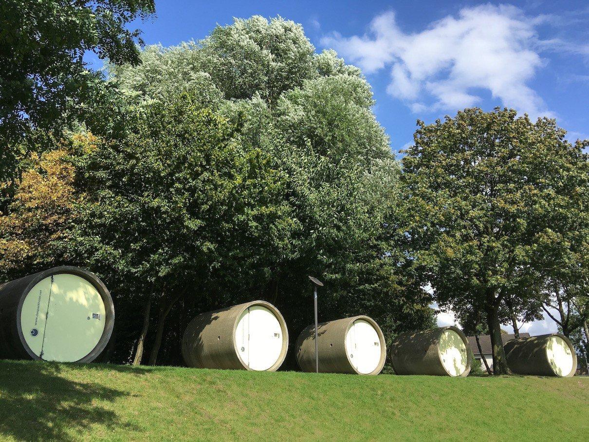 Die 5 Röhren des Parkhotels Bottrop im Bernepark