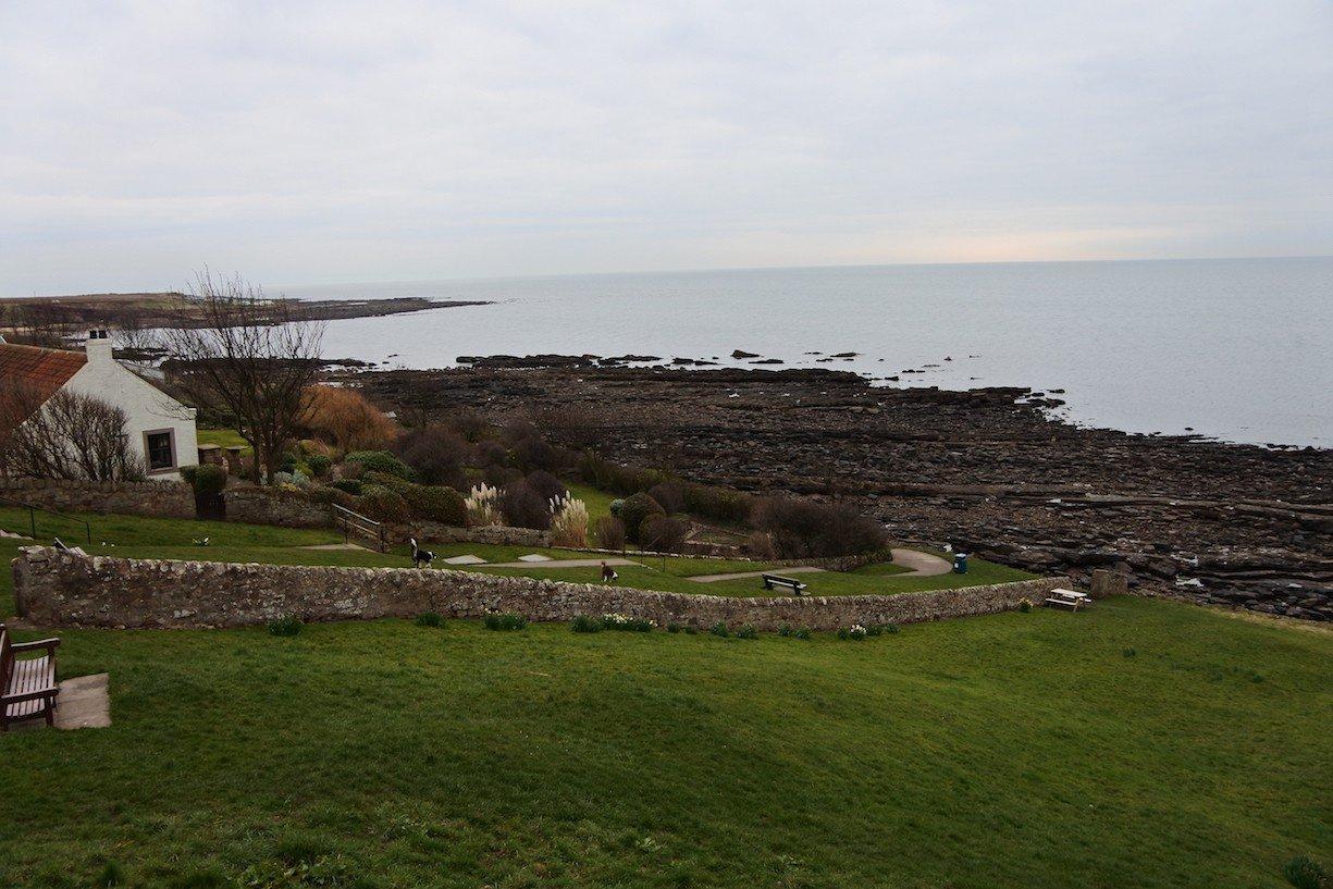 Blick aufs Meer in Crail in Fife/Schottland