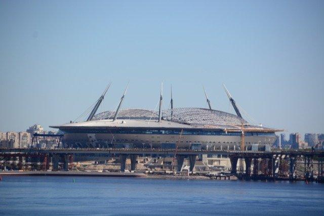 Die Stadionbaustelle ist ein Vorbote der WM 2018