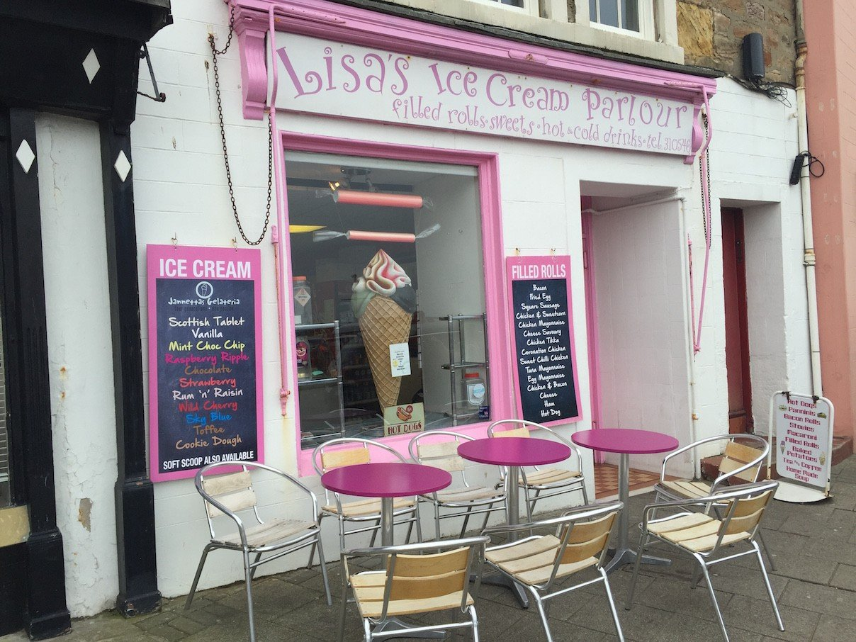 Lisa's Ice Cream Parlour in Anstruther in Fife/Schottland