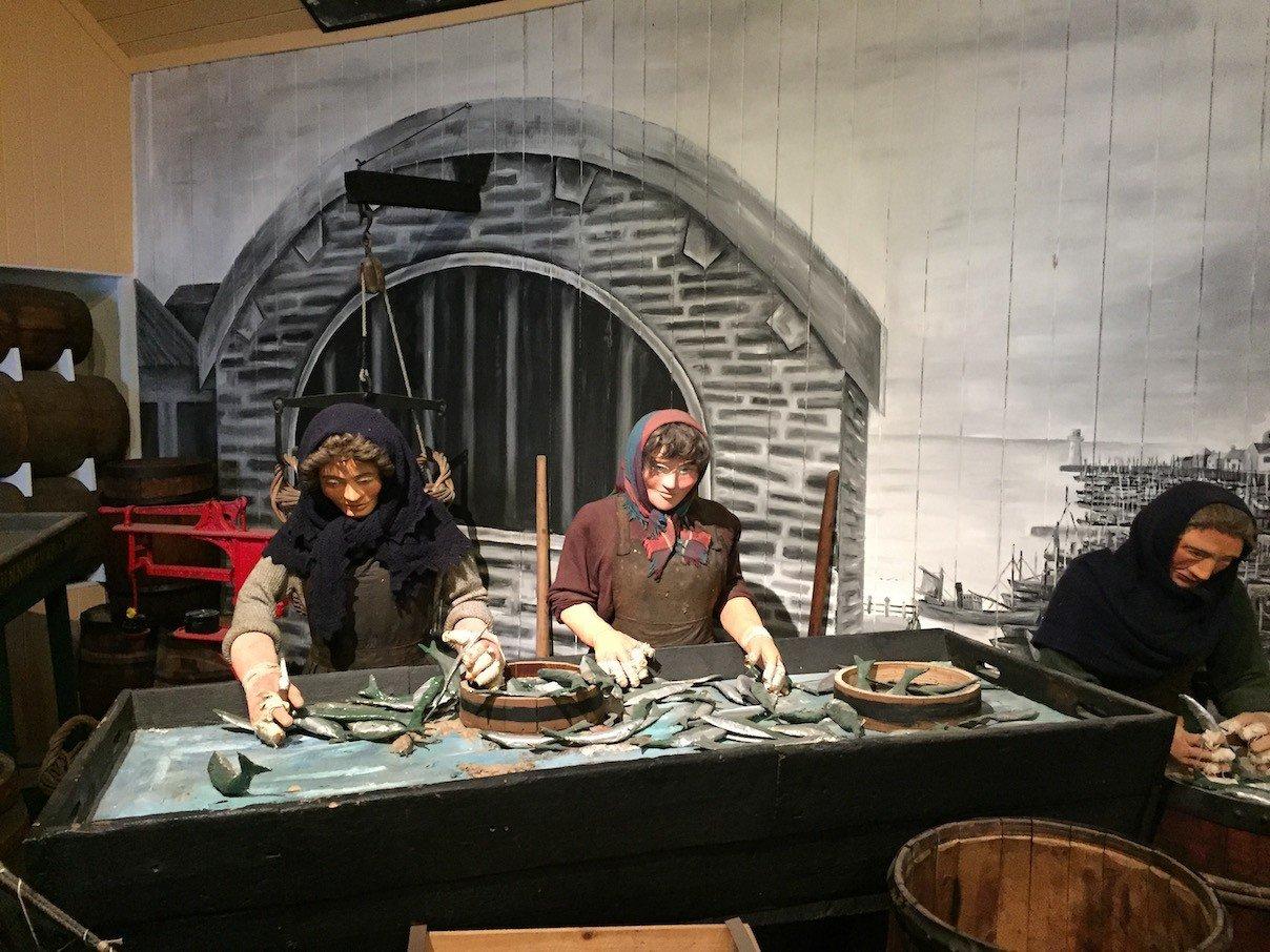 Die Geschichte wird teilweise nachgestellt im Scottish Fisheries Museum