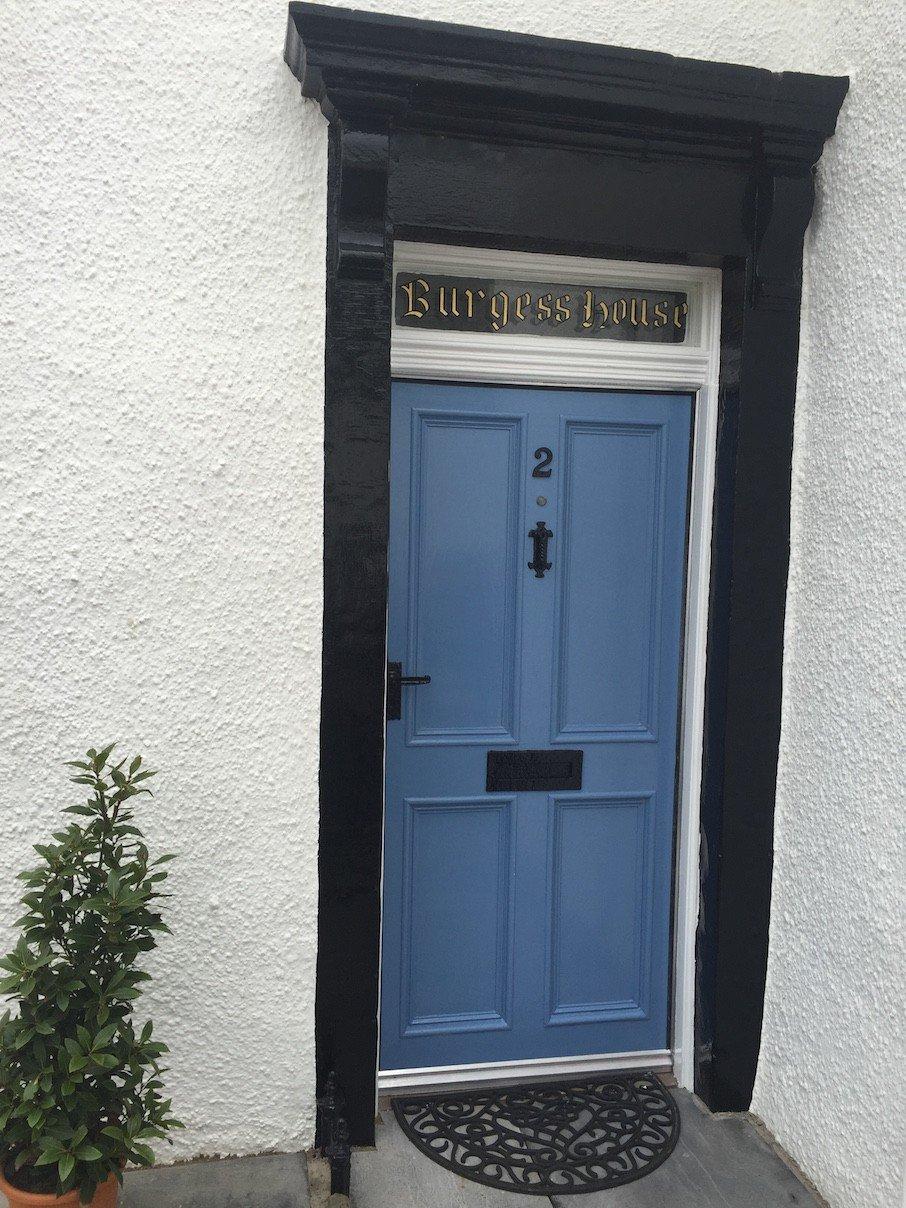 Blaue Türe in Crail
