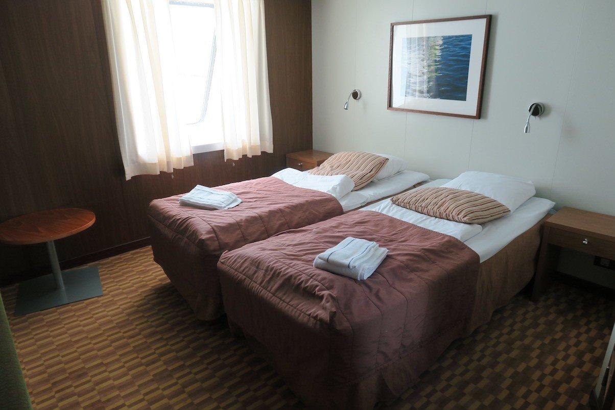 Mein Bett in Kabine 8005 auf der Finnstar (STAR Klasse 4A Außenkabine)