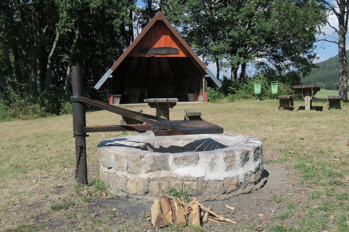 Grillplatz mit Hütte auf dem Schluchtensteig