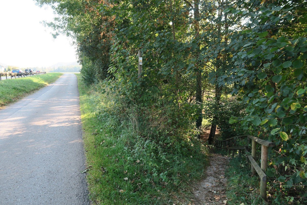 Abzweigung am Ortsende von Stühlingen, endlich weg von der Strasse