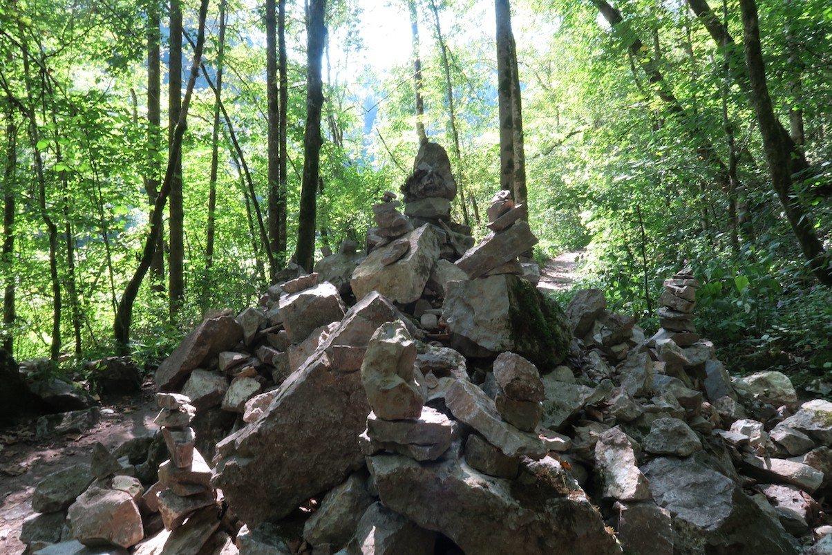 Steinmanderln in der Wutachschlucht