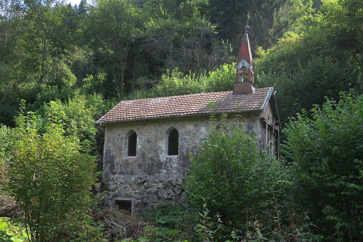 Kapelle im Bereich Bad Boll in der Wutachschlucht