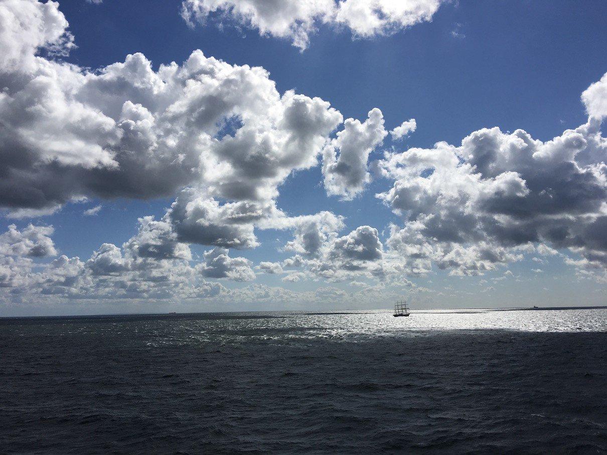 Wolken auf der Ostsee