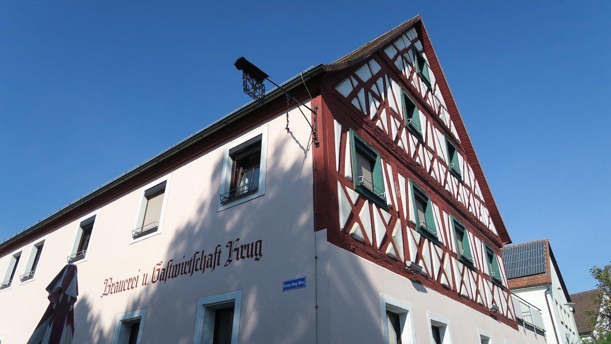 Der zur Brauerei gehörende Gasthof Krug