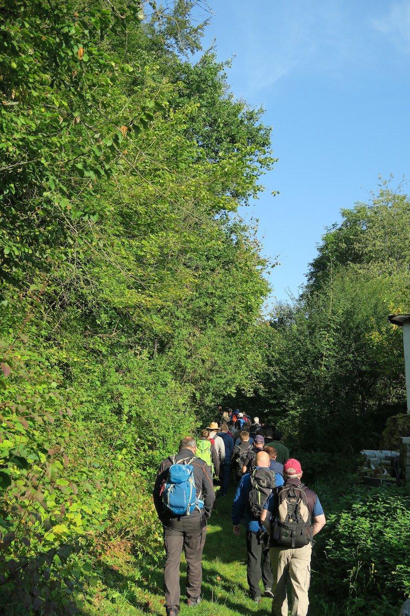 Unsere Wandergruppe bei der geführten Bierwanderung ab Waischenfeld
