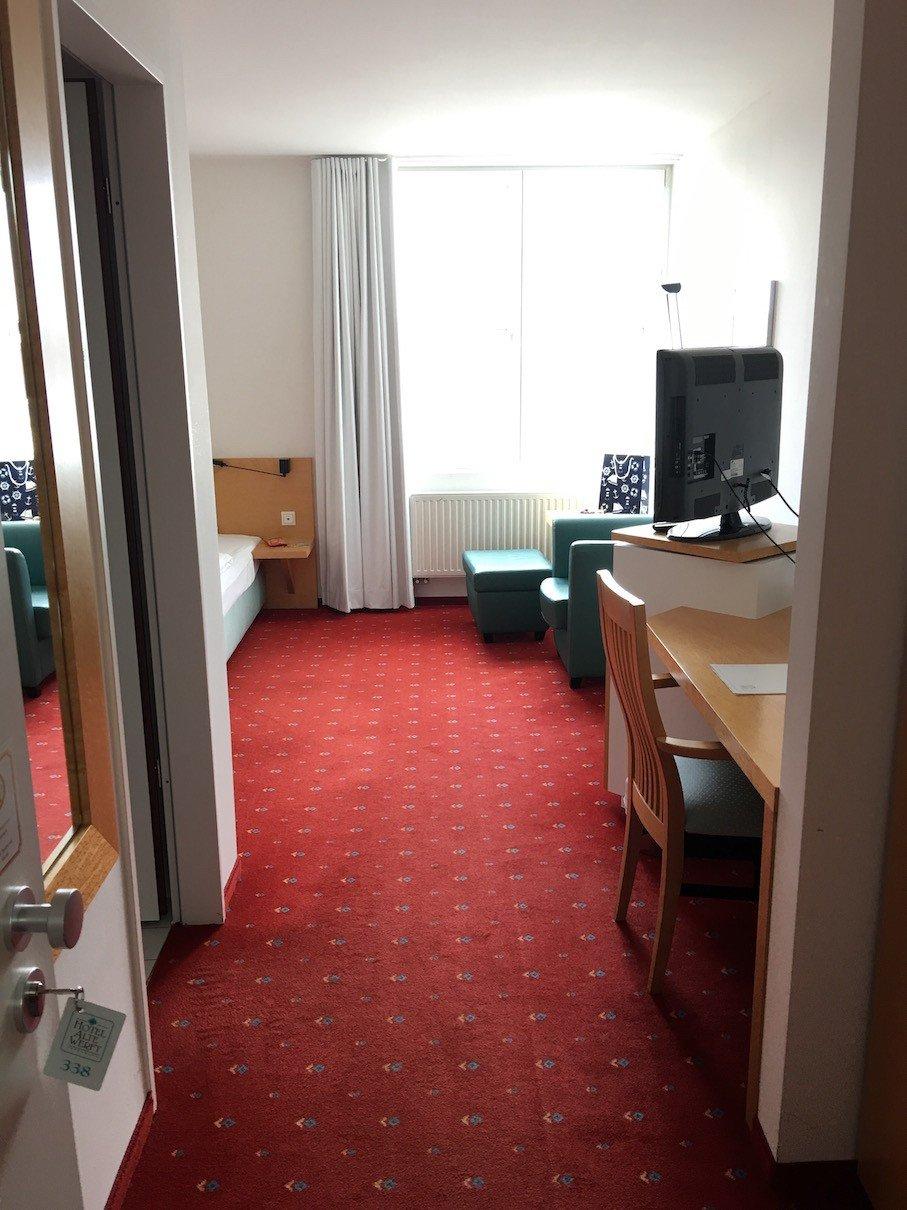 Blick in mein Zimmer im Hotel Alte Werft in Papenburg