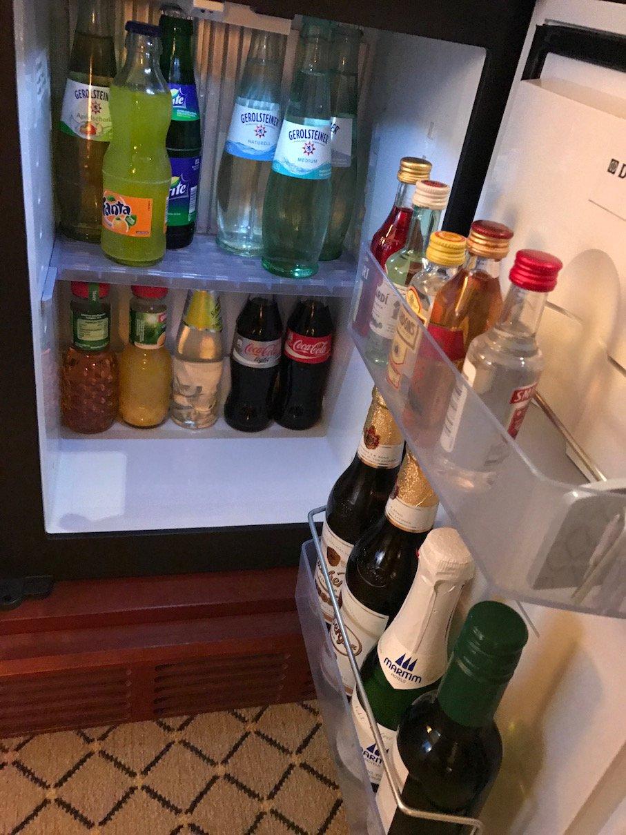 Kühlbereich der Minibar
