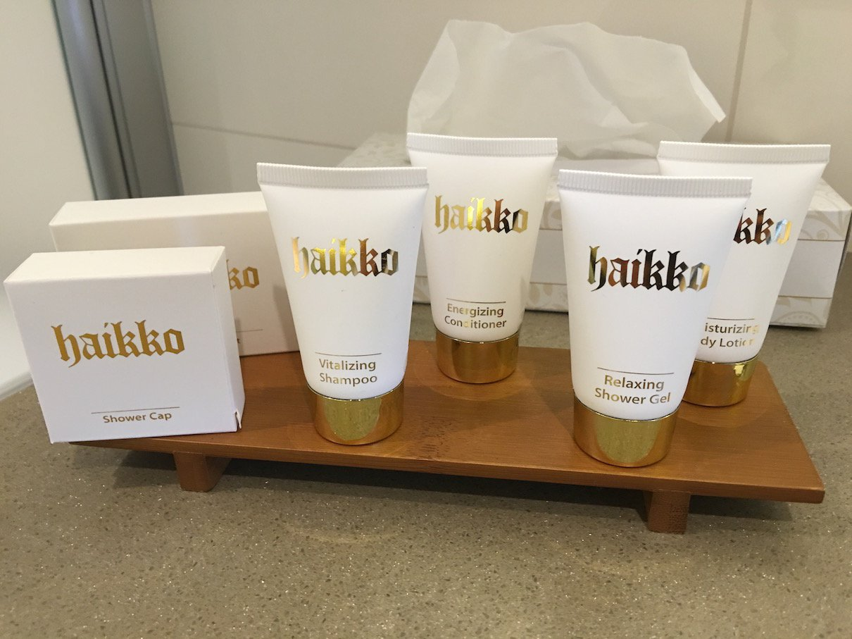 Badutensilien im Hotel Haikko
