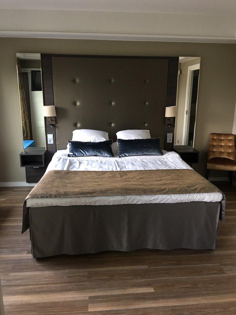 Mein Bett im Hotel Haikko, separat um die Ecke