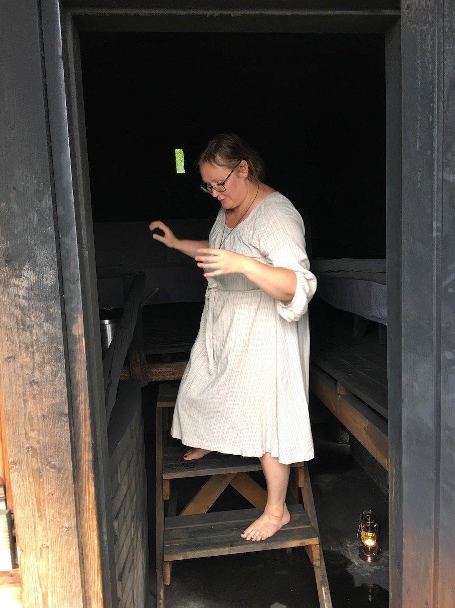 Maria in der Rauchsauna