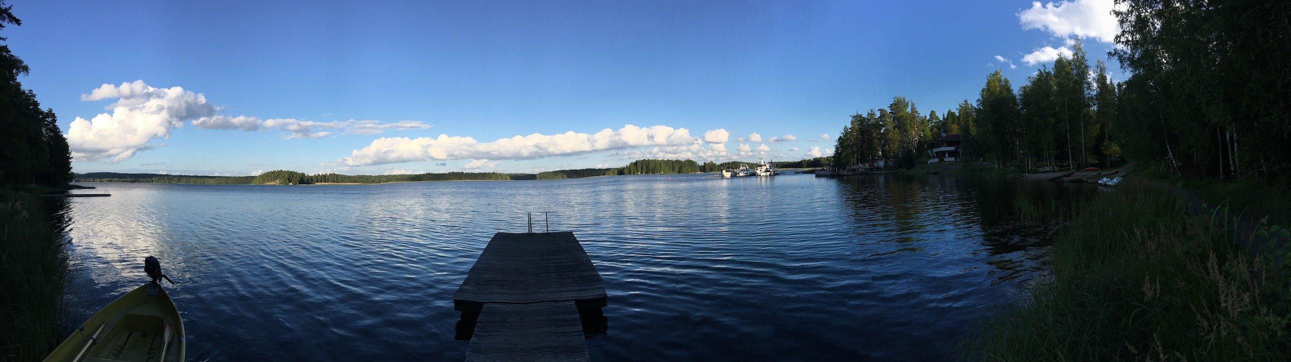 Panorama vom Päijänne-See