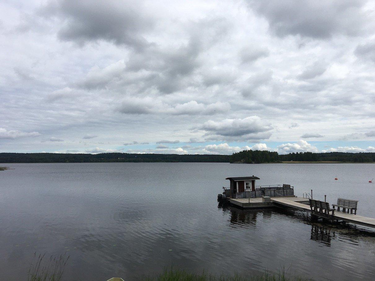 Ein Blick über einen kleinen Teil des Päijänne-See in Finnland