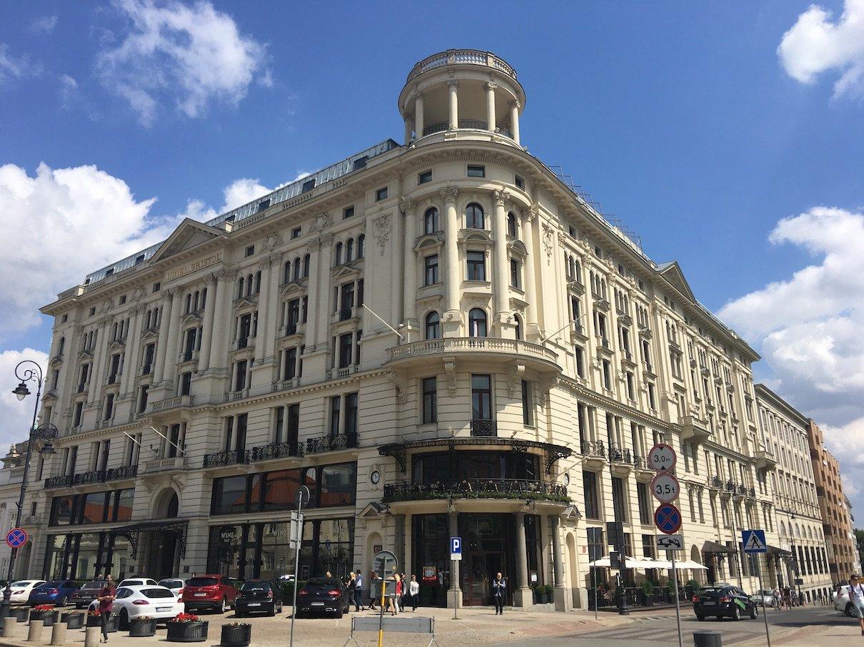 Das wunderschöne Hotel Bristol in Warschau